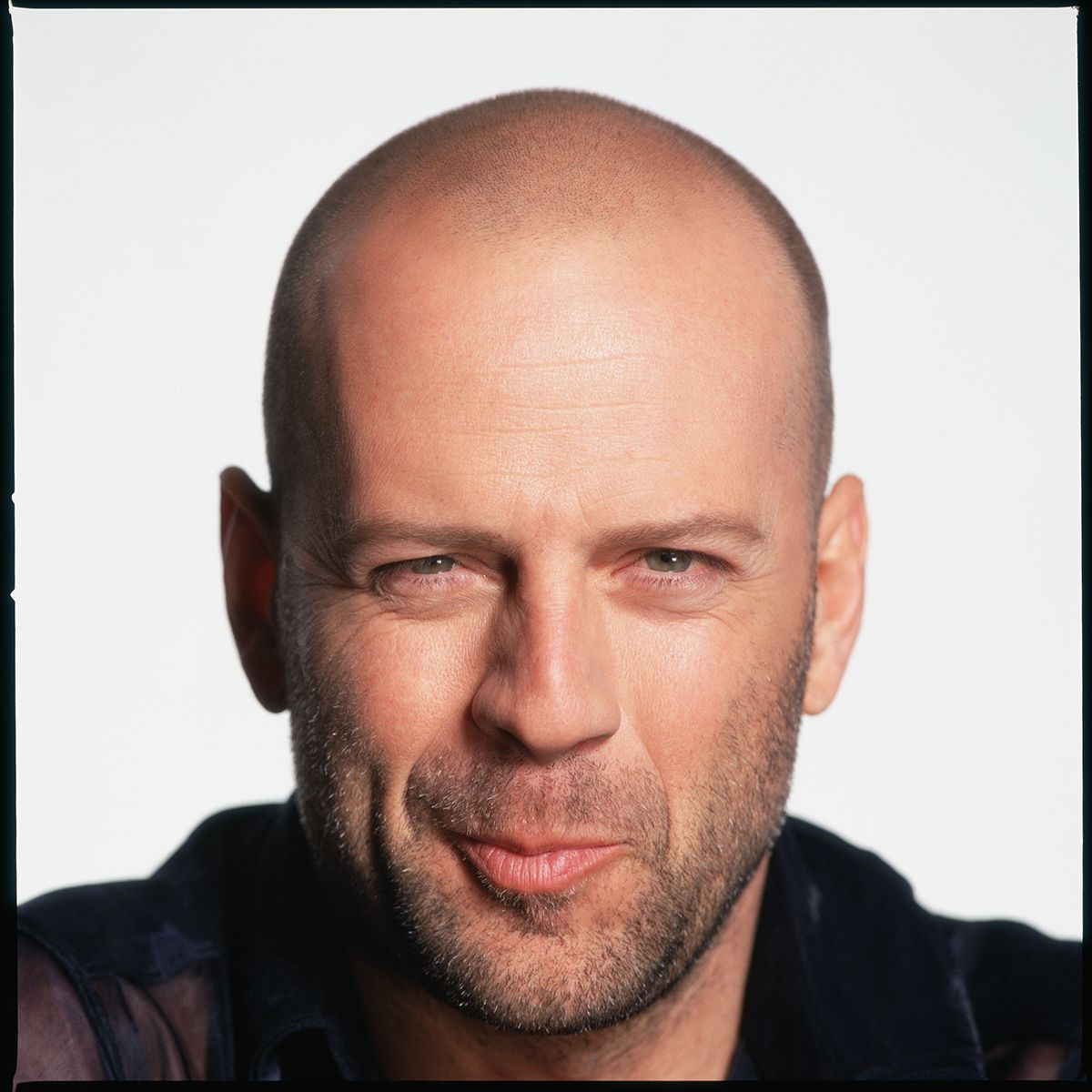Bruce Willis | Bald with beard, Bald men with beards