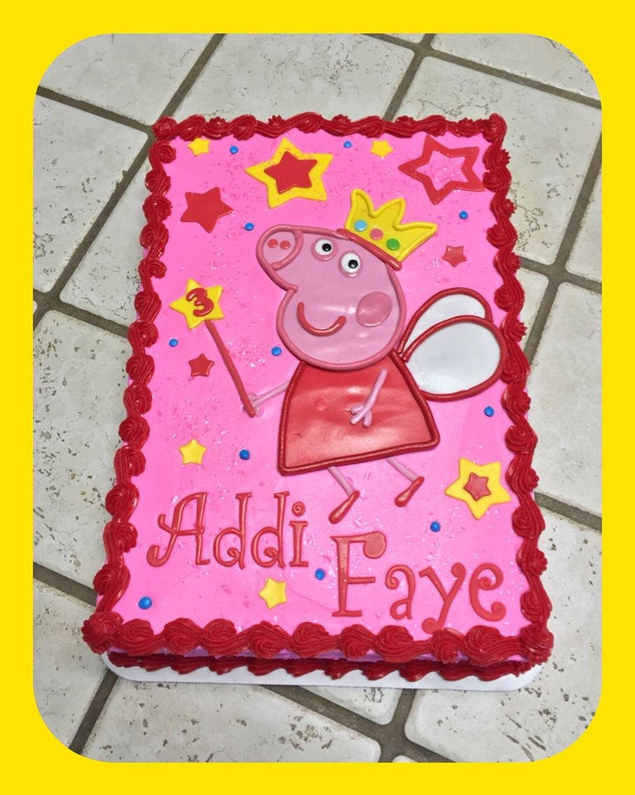A Peppa Pig Sheet Cake 3rd Birthday Parties Ideas