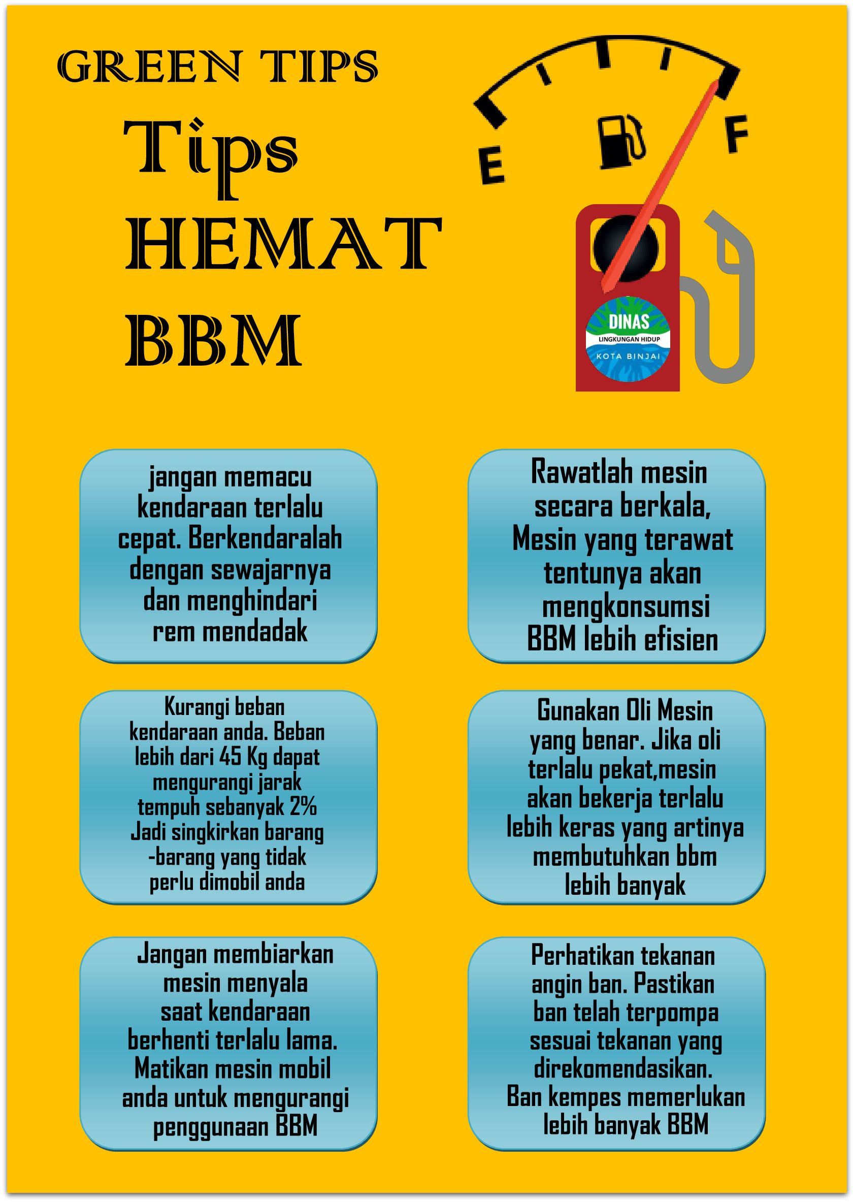 Tips Hemat Bahan Bakar Minyak Tips Hemat Lingkungan Hidup