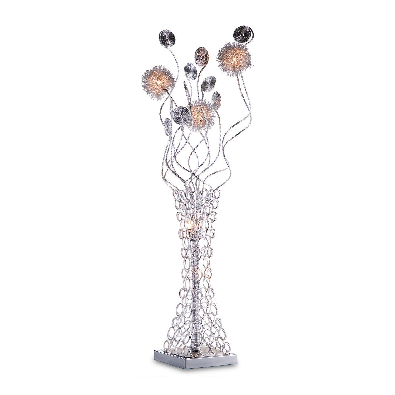 Metal Flower Table Lamp Value City Furniture Metal Flowers Crystal Floor Lamp American Signature Furniture