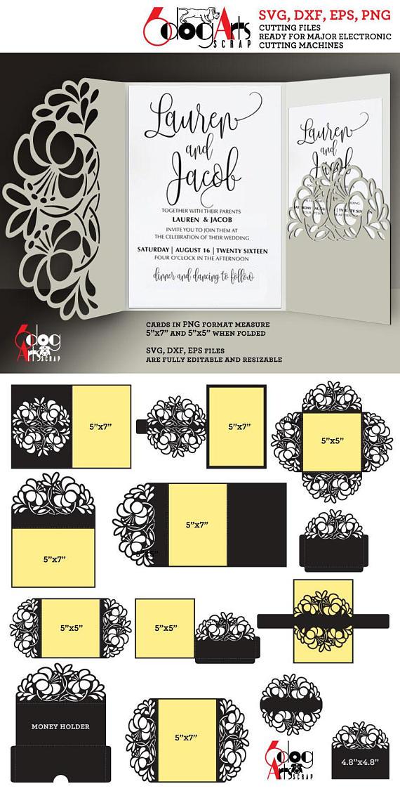 12 floral lace envelope card templates digital cut svg dxf files 12 floral lace envelope card templates digital cut svg dxf files wedding invitation stationery cuttable download silhouette cricut jb 885 stopboris Choice Image