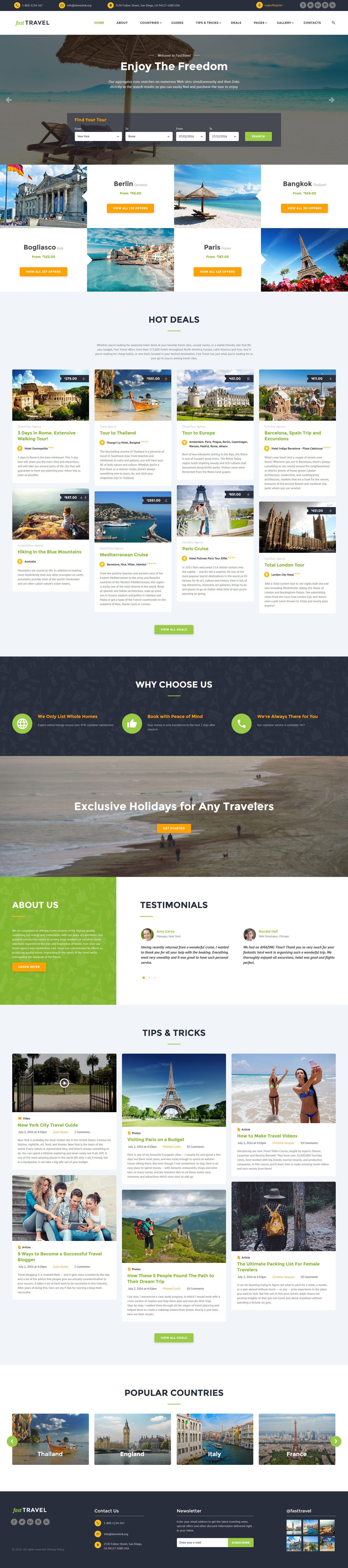 Travel Agency Responsive Website Template http://www.templatemonster ...
