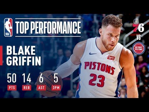 4d6164a0b436 Blake Griffin Sets A NEW Career High 50 Points vs Sixers