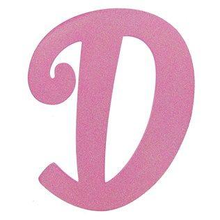 11 1 2 Hot Pink Glitter Letter D Shop Hobby Lobby Glitter Letters Girl Projects Pink Glitter