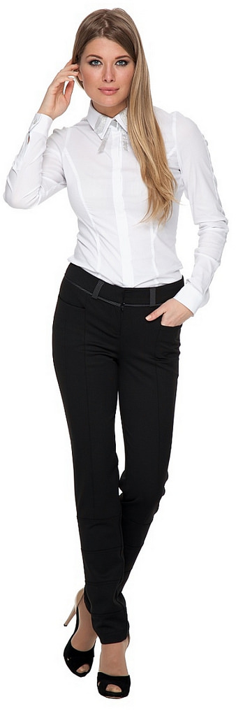 Formal White Shirt And Black Dress Pants in 2019 | Black dress pants,  Outfits, Fashion