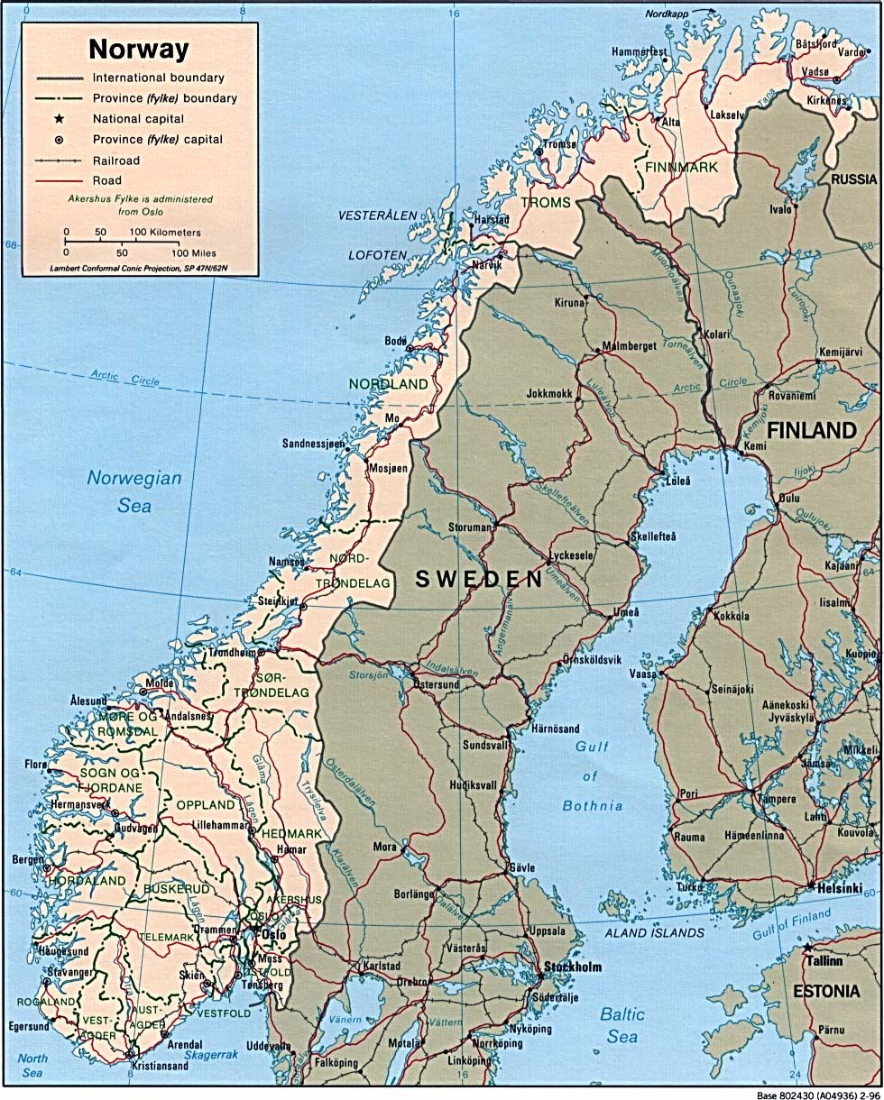 Norway Maps PerryCastañeda Map Collection UT Library Online - Norway map picture