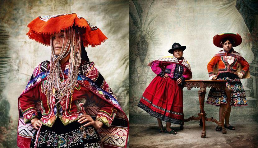 Mario Testino, Alta Moda exhibition.  So dignifying with Peruvian original Haute…