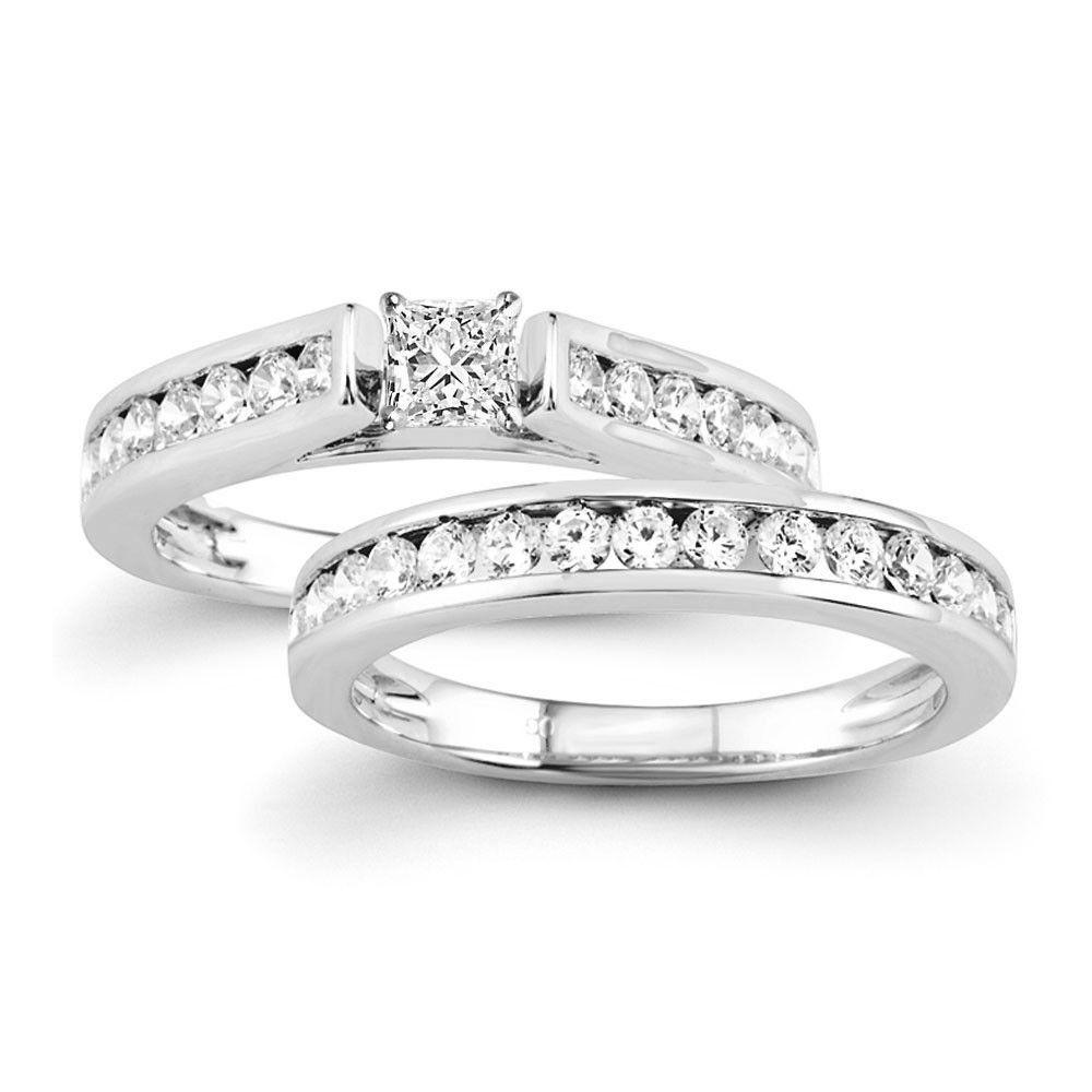 Certified 1.25 Ct. Princess Diamond Channel-Set Bridal Engagement Ring – Goldia.com