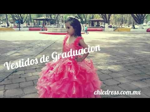 9fe1f0a32 Vestido de graduacion para kinder #niña en #preescolar | Vestidos de ...