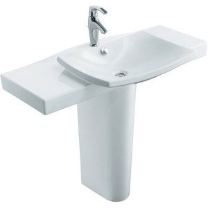Kohler K1869110 Escale Pedestal Bathroom Sink White Pedestal