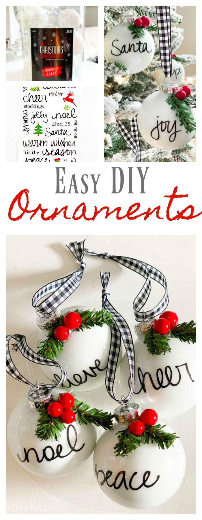 Easy Diy Personalized Christmas Ornaments Thrifty Style Team 2 Bees In A Pod Personalised Christmas Decorations Christmas Ornaments Diy Christmas Ornaments