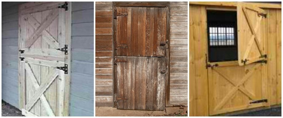 Split Level Barn Doors Dutch New Door Design For The Goat Shed Using Gray Weathered Cedar And T Out Style