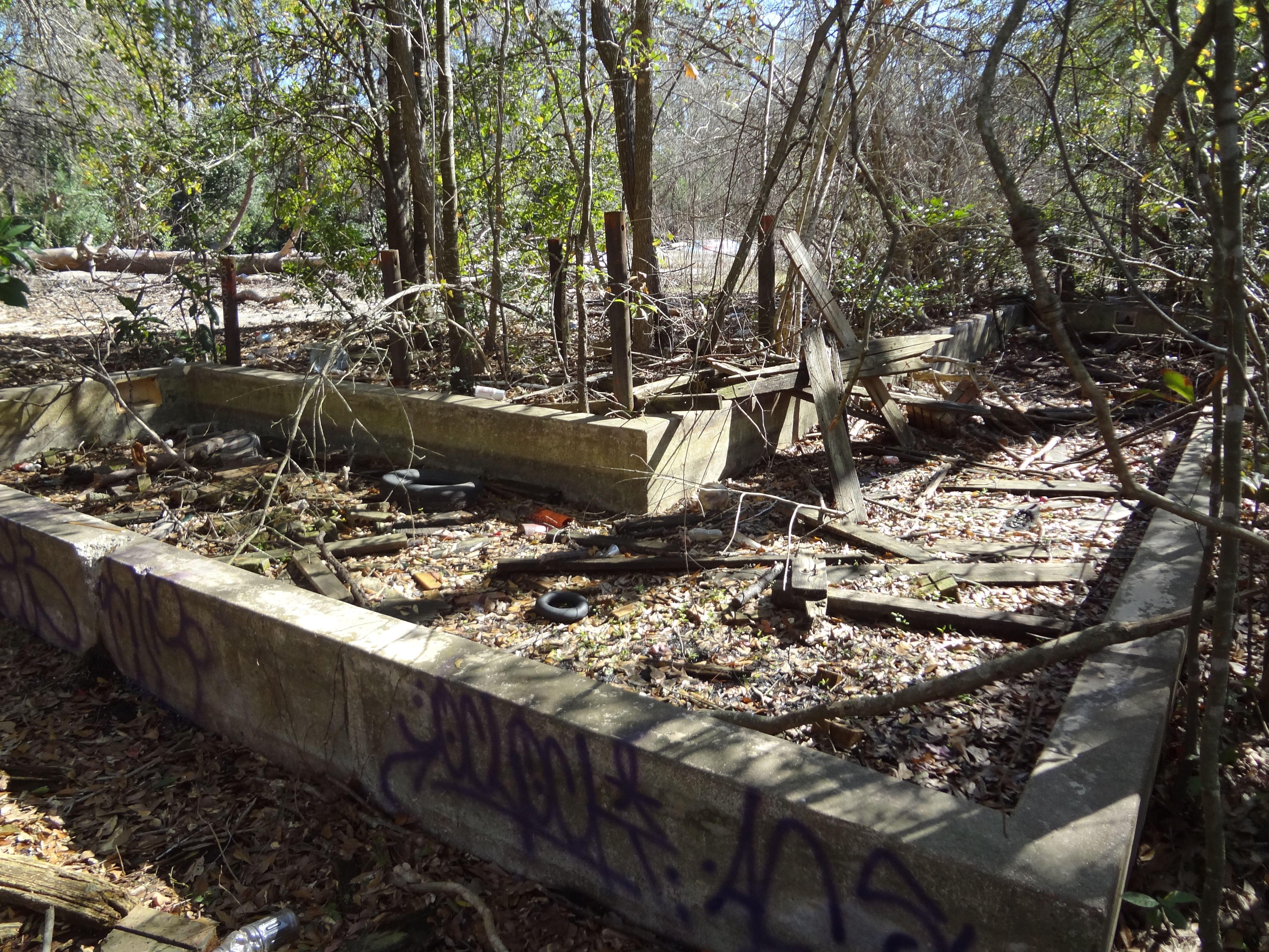More slab ruins. Water slides, Foreclosures, Batting cages