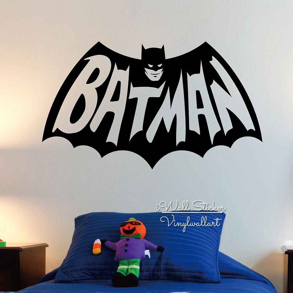 aliexpress com buy baby nursery batman wall sticker boys on wall stickers for kids id=45209