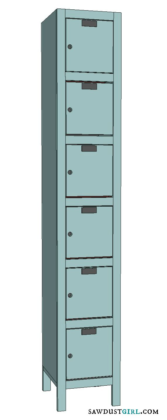 Toy and Shoe Locker Storage free and easy plans from https – Locker Storage Cabinet
