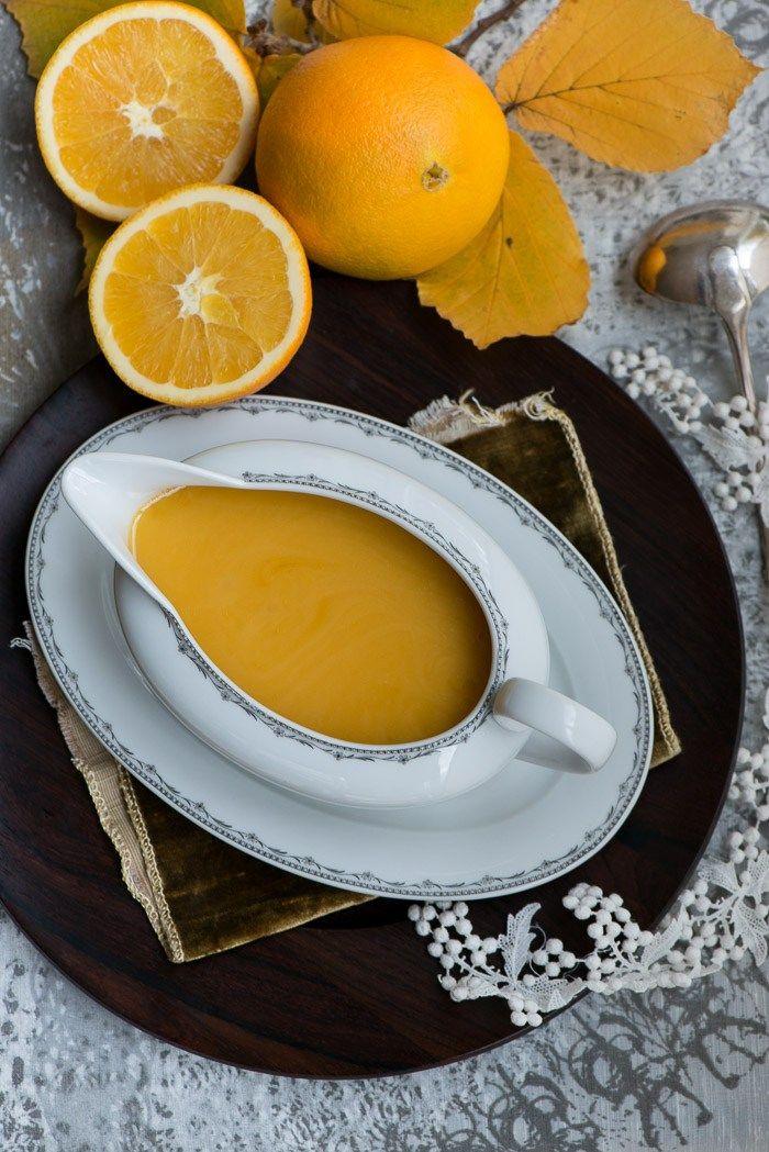 Appelsinsovs til andebryst a la orange
