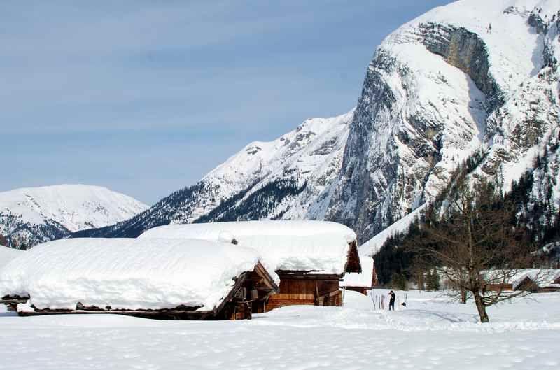 Ahornboden Winter Engalm Ahorn Boden Boden Karwendel