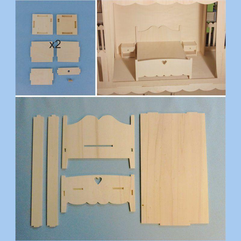 Meubles Miniatures Pour Poupee Mannequin Ex Barbies Plans De Maison De Poupee Meubles Maison De Poupee Meubles De Poupee