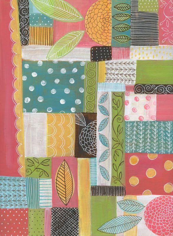"susan black design: pattern  ""zinnia quilt"""