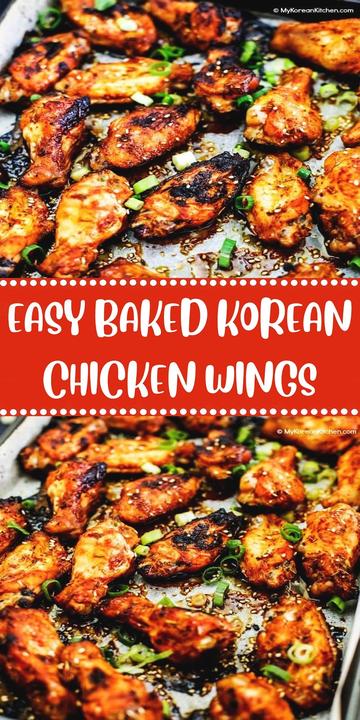 Easy Baked Korean Chicken Wings Chicken Recipes Boneless Easy Thanksgiving Recipes Grilled Chicken Recipes