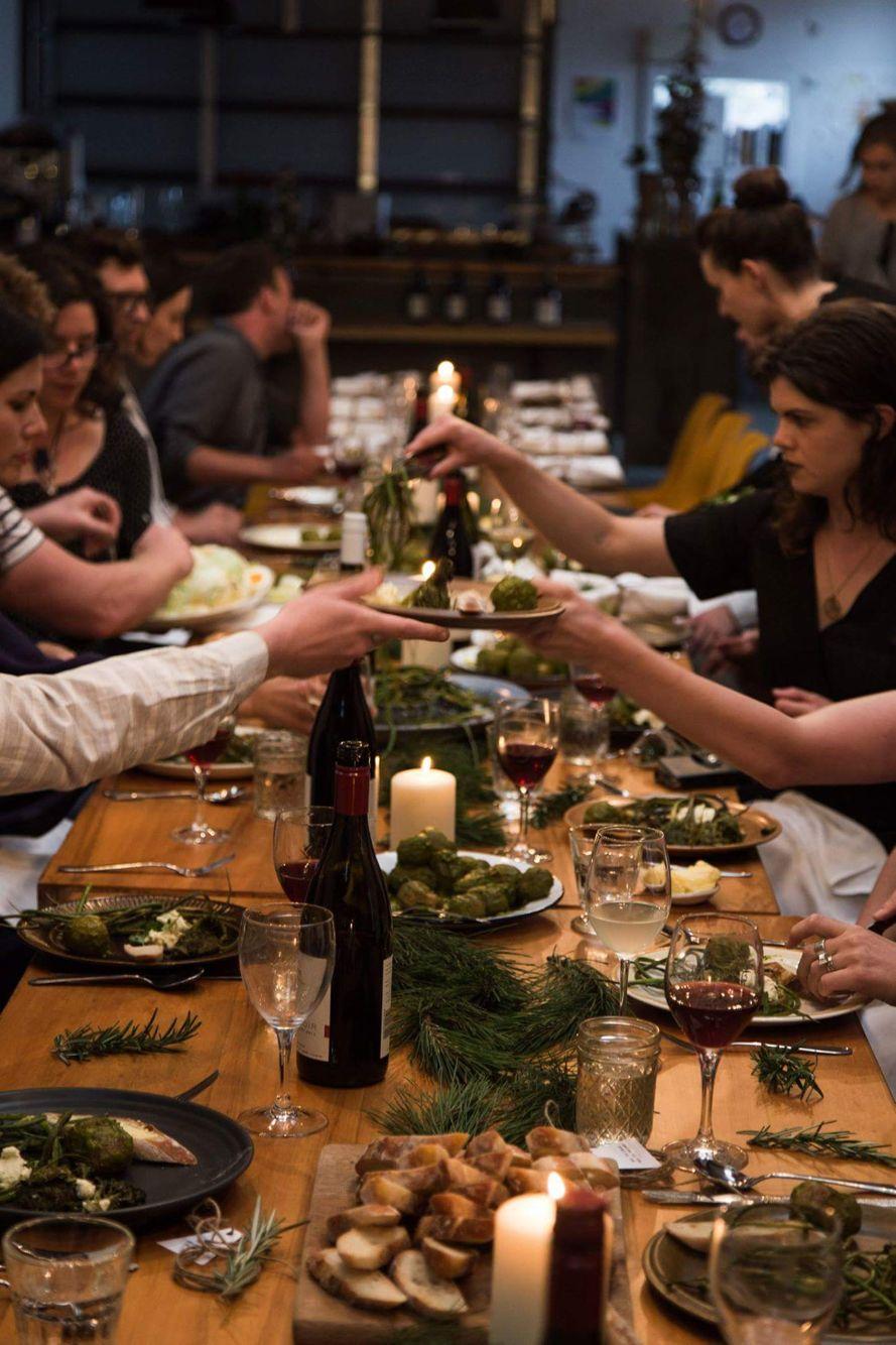 Winefolk Christmas party. Photo cred Charlie Rose Jackson