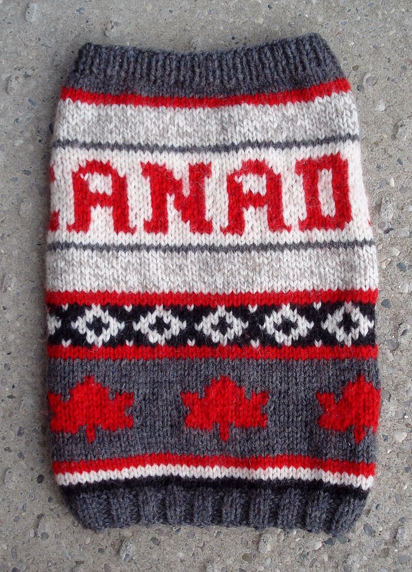This was Francie's Olympic sweater adapted from one of the really expensive adult wool sweaters sold at the time!
