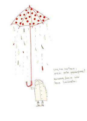 faccio solo bere l'ombrello, nonna