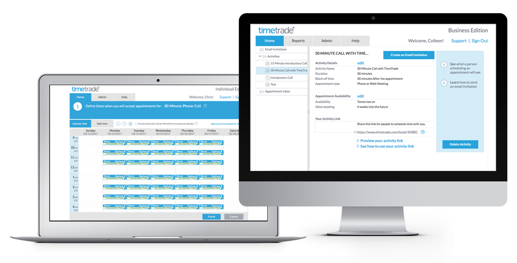 Scheduling software that lets people book into your calendar!