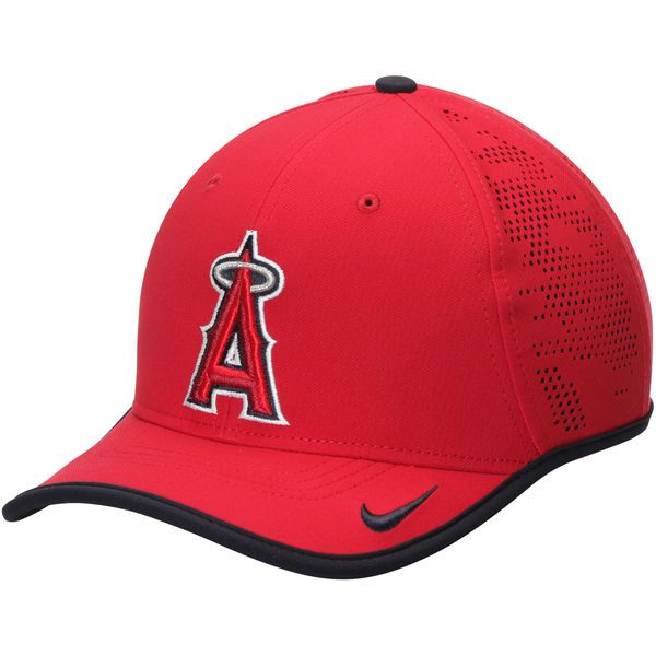 Men s Los Angeles Angels Nike Red Vapor Classic Performance Adjustable Hat 9d44343b9cfe