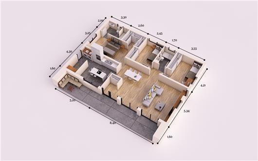 Moderna promoci n 150 m2 sistema constructivo hormig n for Casa moderna 140 m2