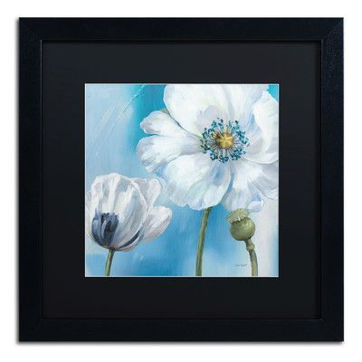 Change The Beat Of Your Decor With This Splendid Trademark Fine Art Blue  Dance III Black Framed Wall Art.