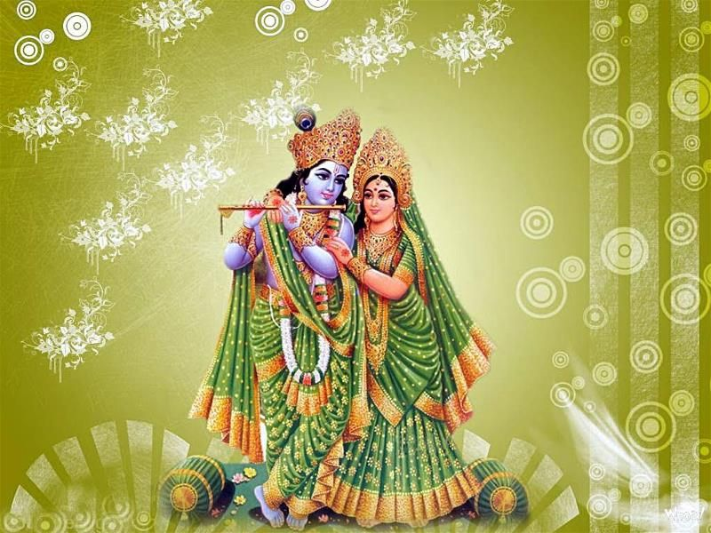 Radhe Krishna Love Image With Green Cloth And Green Hd Wallpapers For Desktop And Mobile Radha Krishna Images Krishna Wallpaper Krishna Images