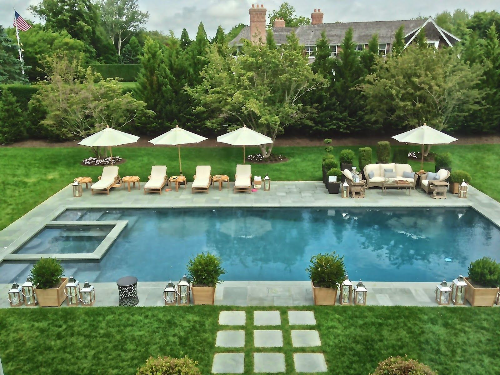 Chic provence hampton designer showhouse 2014 in 2019 for Pool design hamptons