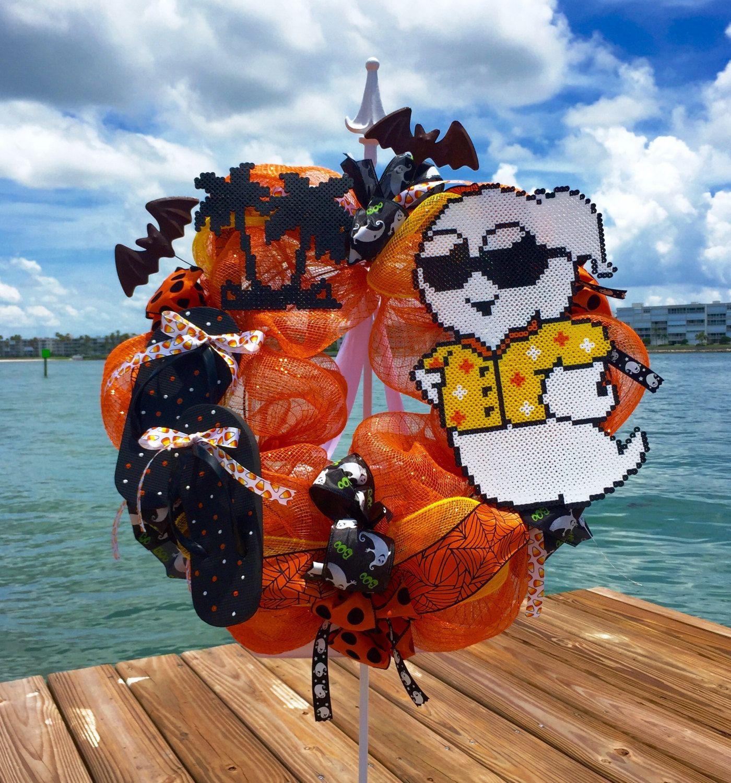 Halloween Wreath Halloween Decor Fall Wreath Beach Wreath