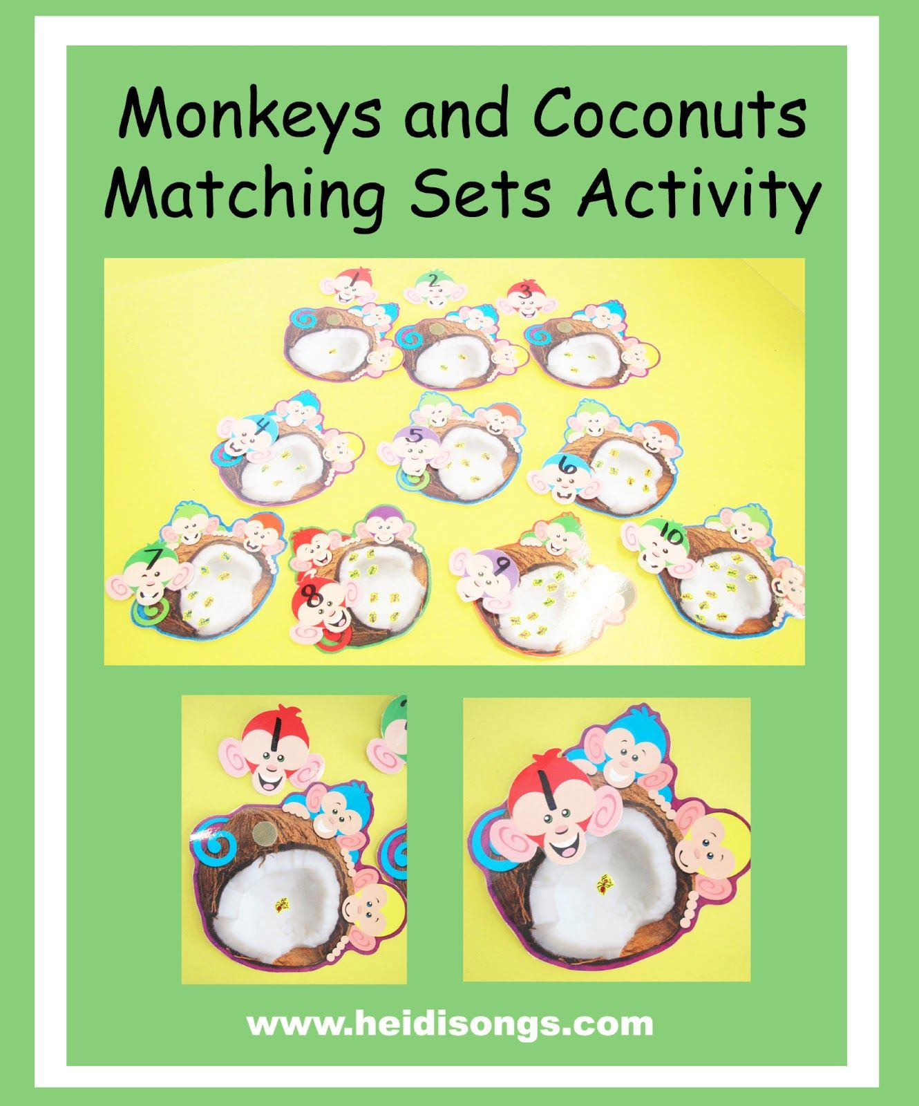 Monkeys And Coconuts Match Sets Activity