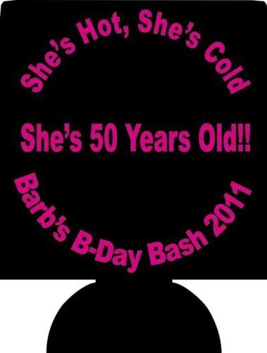 Details about 50th Birthday Party Koozies Favors 1985 lot of 1 to 100 Custom Personalized #moms50thbirthday 50th-Birthday-Party-Koozies-Favors-1985-lot-of-1-to-100-Custom-Personalized #moms50thbirthday