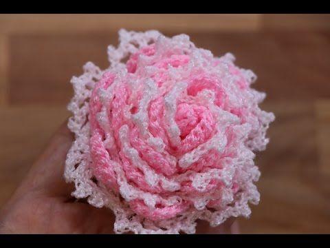 Flor Crochet paso a paso dos Colores Ganchillo Pinterest Flor