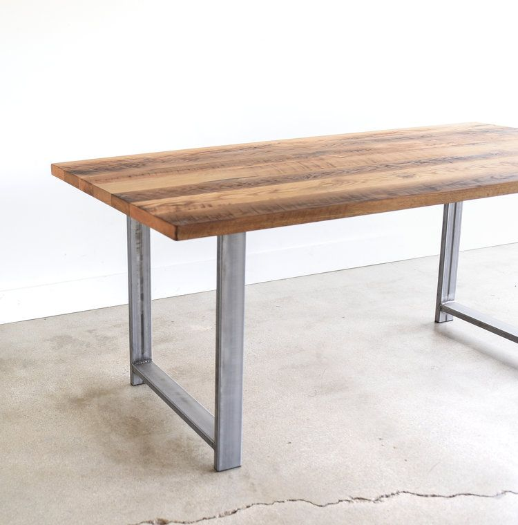Miraculous Industrial Modern Dining Table H Shaped Metal Legs In 2019 Caraccident5 Cool Chair Designs And Ideas Caraccident5Info