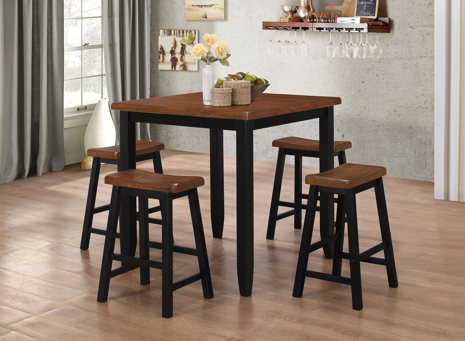 Solid Construction And Casual Contemporary Styling Make The Emmerdale Dining Set A Stylish And Practical Addition Pub Table Sets Kitchen Dining Sets Pub Table