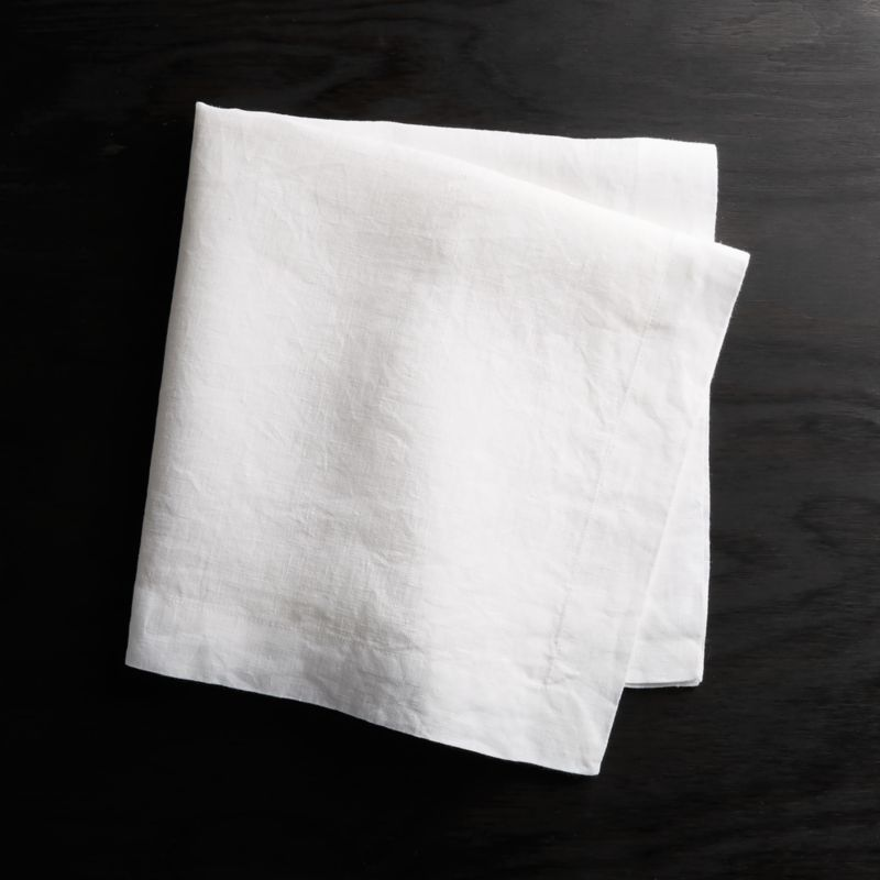 Helena White Linen Napkin Reviews Crate And Barrel White Linen Napkins Linen Dinner Napkins White Cloth Napkin