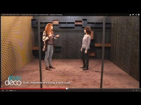 La Box Téva Déco avec Cubit : un esprit luxe dans une pièce à double fonction : chambre et dressing - YouTube
