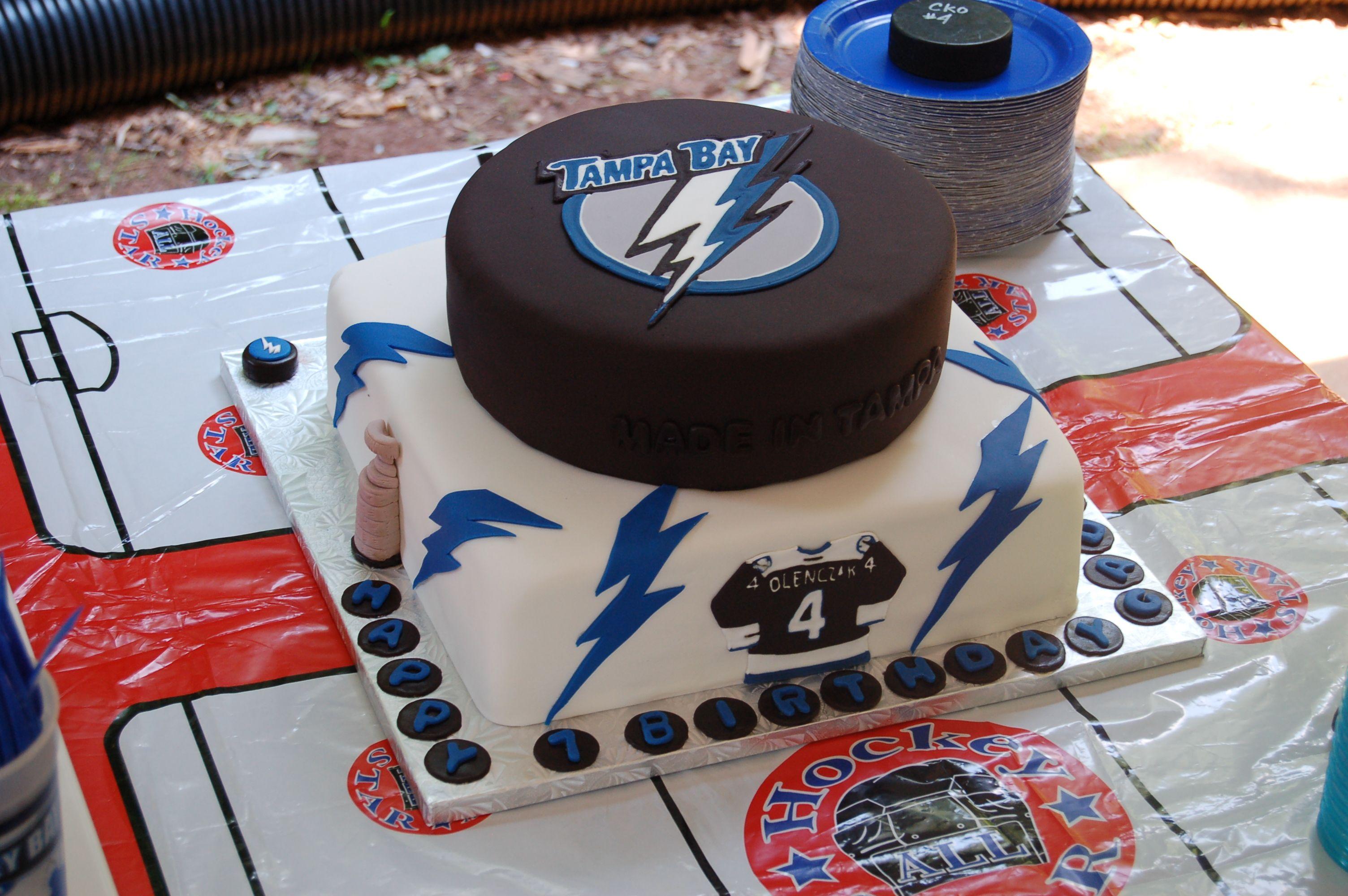 Tampa Bay Lightning Cake I Made For My Sons Birthday