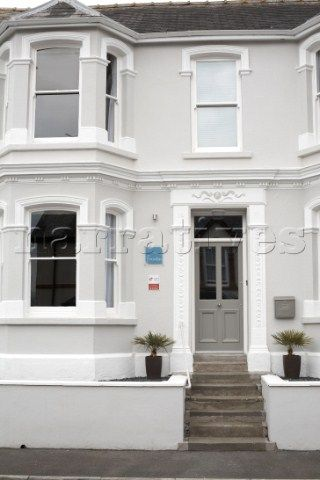 Prime House Exterior Painted In Hardwick White With Front Door Interior Design Ideas Tzicisoteloinfo