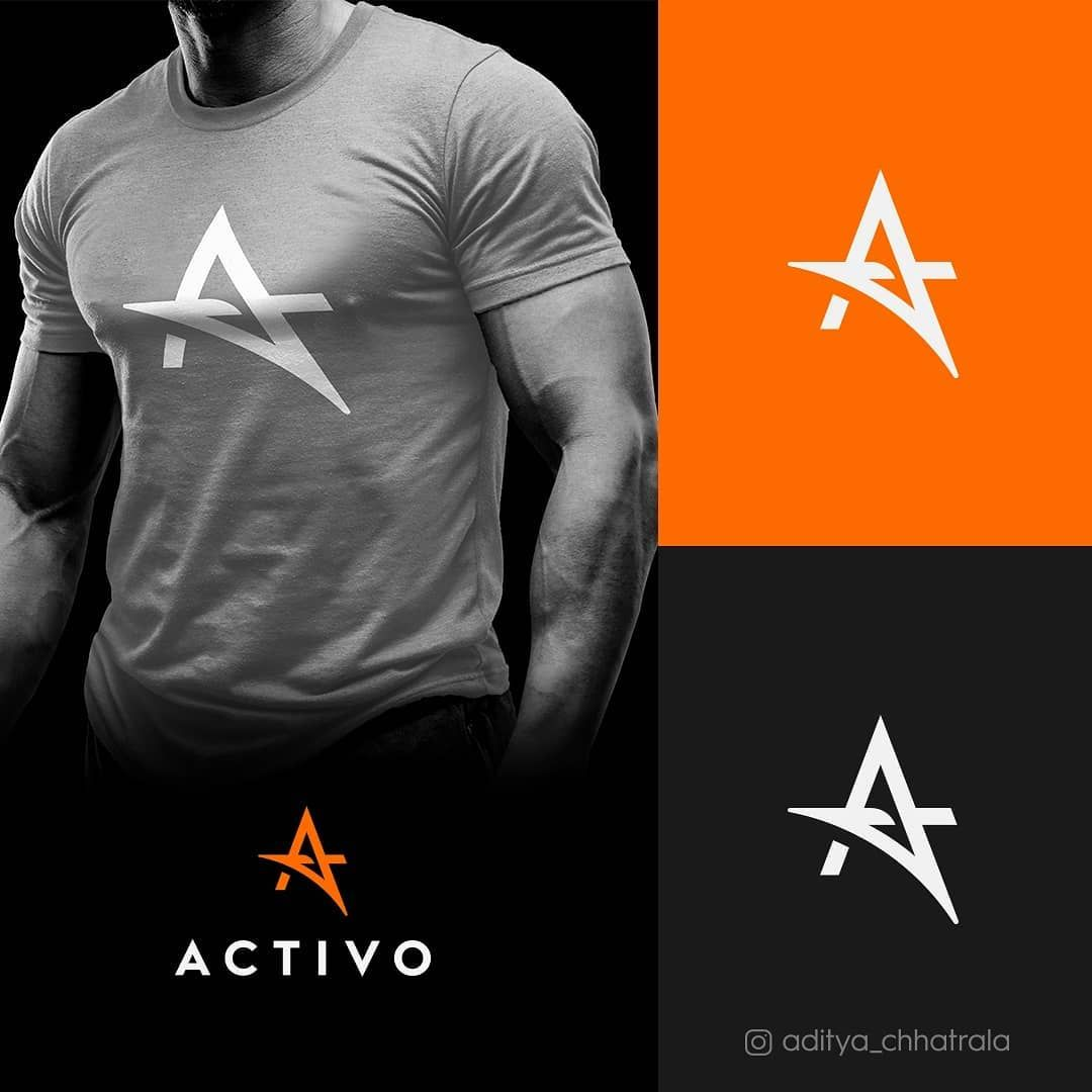 Activo - Sports Clothing Brand Logo -   12 fitness Gym logo ideas