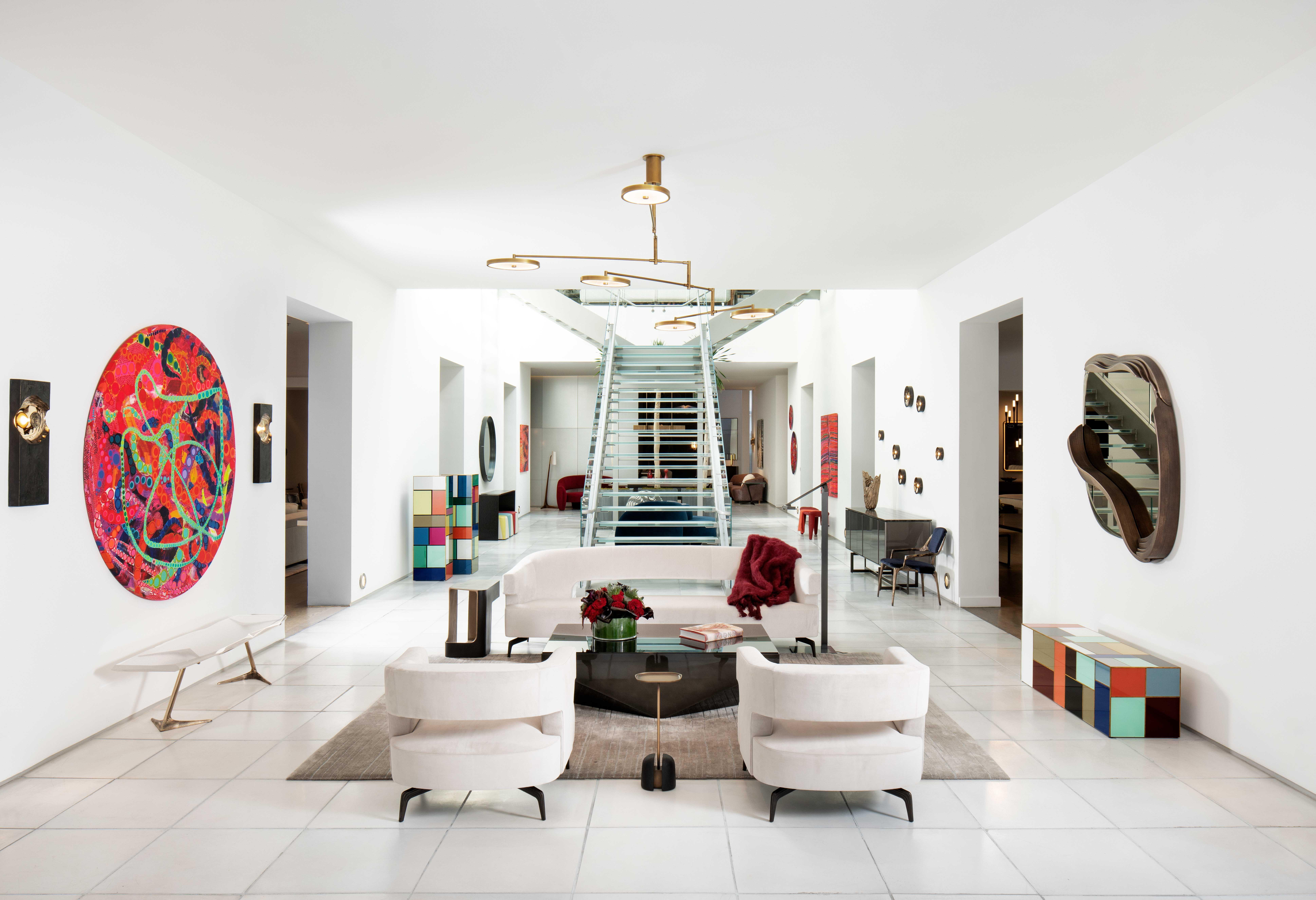 2018 miami design week  modern white living room holly