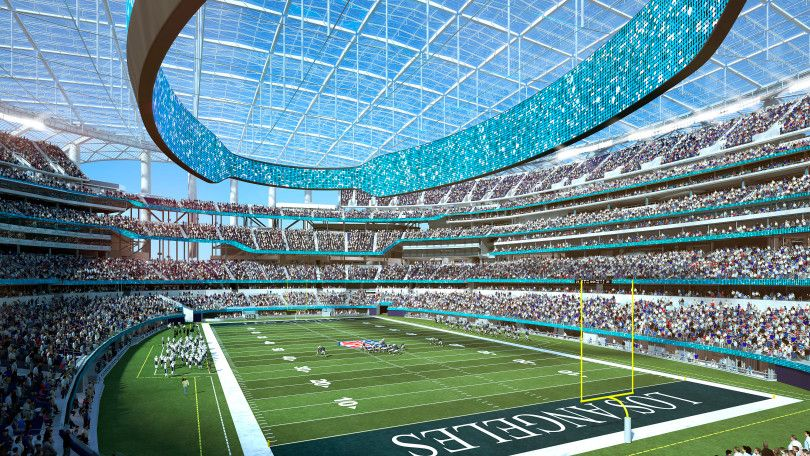 Rams Chargers Ready To Sell Best Seats At New Los Angeles Stadium Nfl Stadiums Sports Stadium Football Stadiums