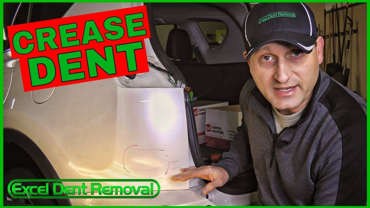 Paintless Dent Removal For A Crease Dent Https Youtu Be M0uuthr 30u Repair Videos How To Remove Crease