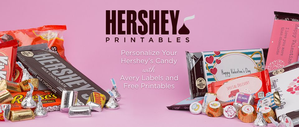 Create Personalized Hersheys Candy With Labels And Customizable Design Templates From Avery Decorate Bars KISSES Chocolates Miniatures