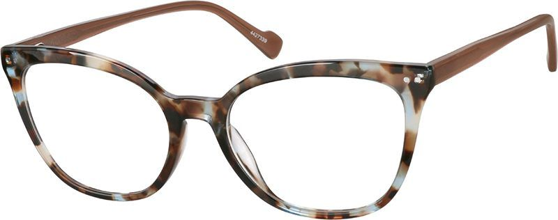 5f640cdde0 Zenni Womens Cat-Eye Prescription Eyeglasses Tortoiseshell Plastic ...