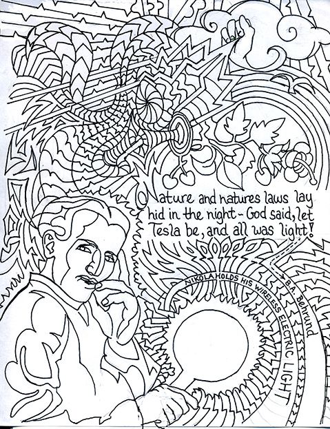 Let There Be Tesla From The Nikola Tesla Coloring Book Nikolatesla